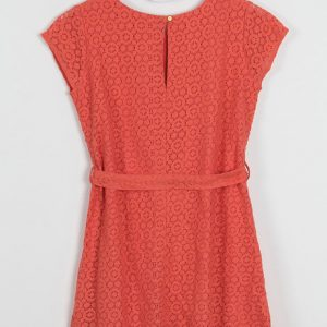 Zivame Coral Swoon light Lace Midi Skater Dress