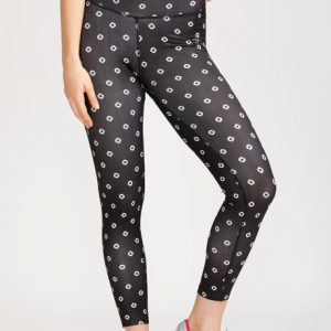 West Vogue Abstract Dots Skin Fit Pants Black